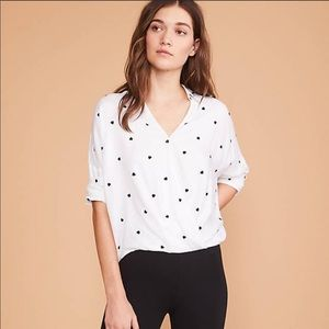 🆕❤️ Lou & Grey Heart Cozy Wrap Shirt•NWT🆕